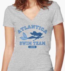 Camiseta entallada de cuello en V Atlantica Swim Team