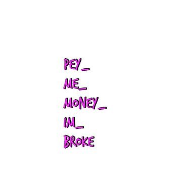 Logotipo de peymemoneyimbroke de clairechesnut