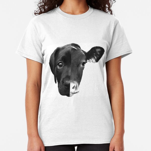 Speciesism Cow Dog Split Face Classic T-Shirt