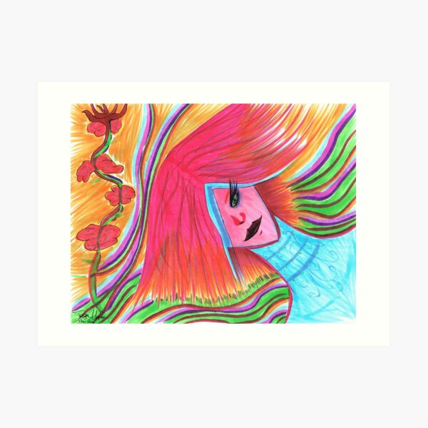 Something Vibrant Art Print