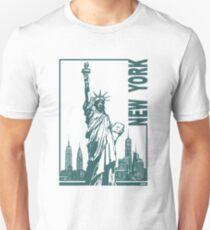 Camiseta unisex Nueva York-Estatua de la Libertad
