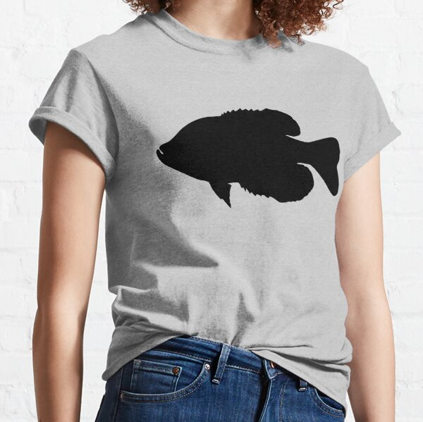 crappie silhouette, crappie fishing, crappie fisherman gift, fishing gift Classic T-Shirt