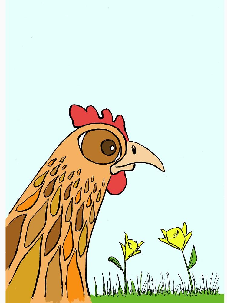 Cute Chicken in Garden by eddcross