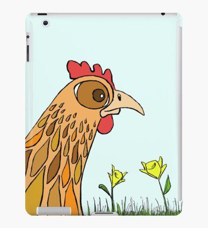 Cute Chicken in Garden iPad Case/Skin