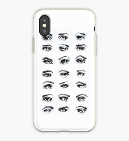 Charcoal Eyes iPhone Case