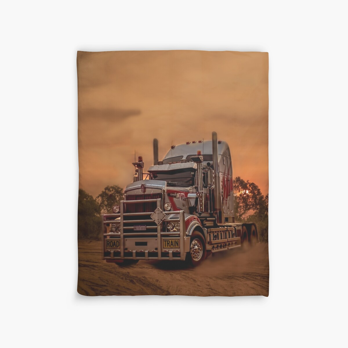Quot Prime Mover Kenworth Truck At Sunset Quot Duvet Covers By