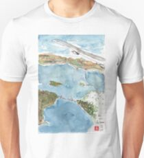 View flying into SFO from Paris Unisex T-Shirt