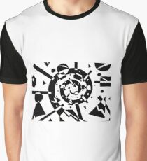 Geometric Explosion Graphic T-Shirt