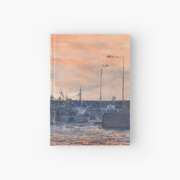 Pittenweem Harbour at Sunset Hardcover Journal