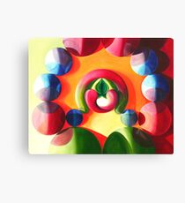 Sex and Candy - vibrant abstract oil painting Canvas Print