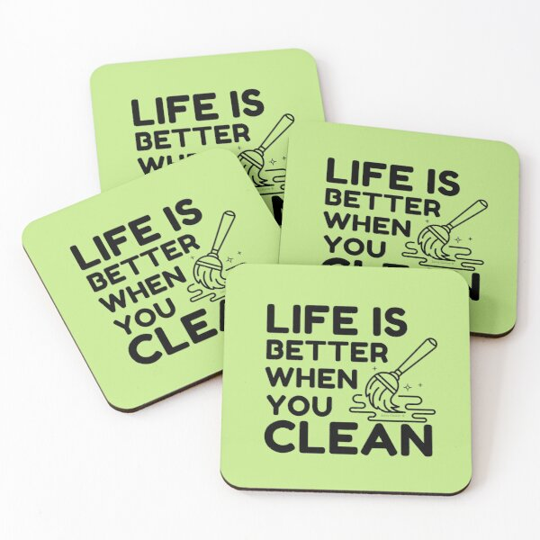 Copy of Team Cleaner Coasters (Set of 4)