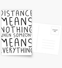 Distance means nothing Postcards