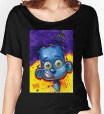 CUTE KID - COOL BLUE Women's Relaxed Fit T-Shirt