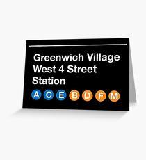 Greenwich Village Station Greeting Card