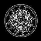 Schwarzer Ozean Mandala von Emilie Desaunay