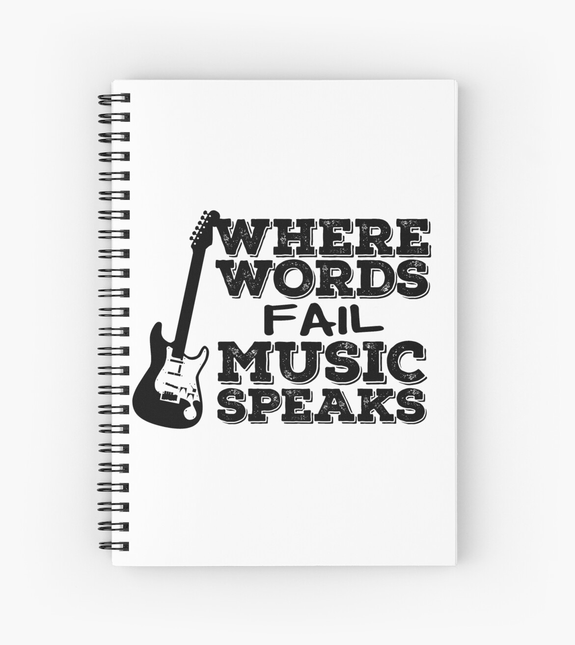 Music Quotes Guitar Music Lover Inspirational Spiral Notebooks By