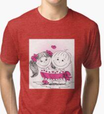 love man and woman bound bow Tri-blend T-Shirt