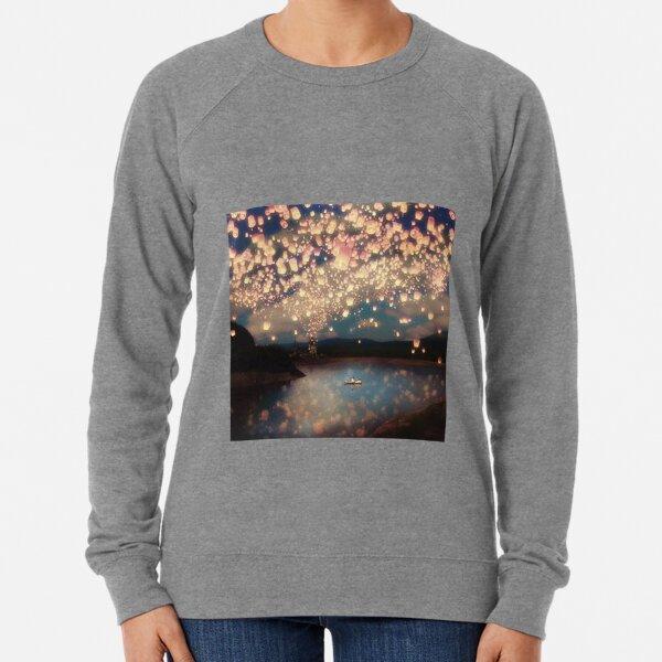 Love Wish Lanterns Lightweight Sweatshirt