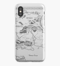 Elder Scrolls map in ink iPhone Case/Skin