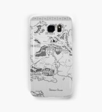 Elder Scrolls map in ink Samsung Galaxy Case/Skin