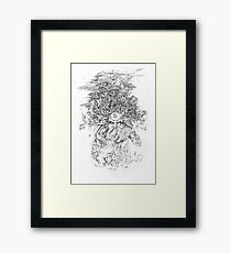 Hell - King Yama the Chinese God of Hell Framed Print