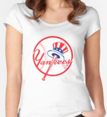 NY Yankees Women's Fitted Scoop T-Shirt