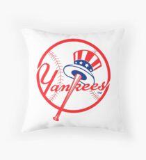 NY Yankees Throw Pillow
