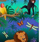 jungle scene by kathrynkonkle