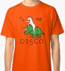 To The Disco (Unicorn Riding Triceratops) Classic T-Shirt