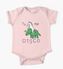 To The Disco (Unicorn Riding Triceratops) One Piece - Short Sleeve