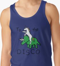 To The Disco (Unicorn Riding Triceratops) Men's Tank Top
