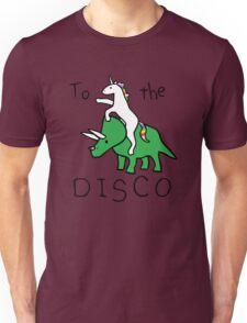 To The Disco (Unicorn Riding Triceratops) Unisex T-Shirt