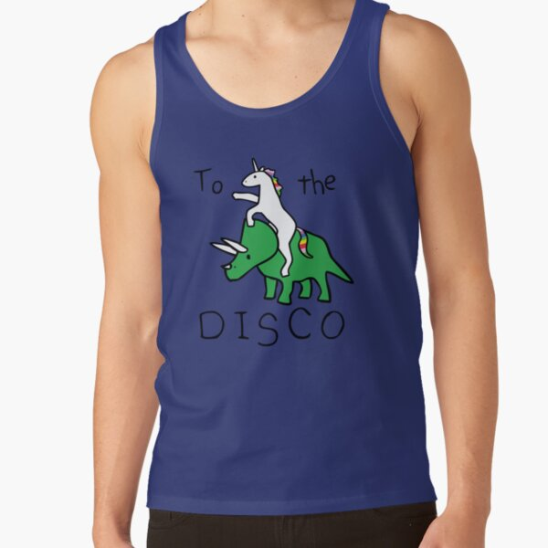 To The Disco (Unicorn Riding Triceratops) Tank Top