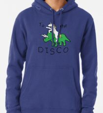Zur Disco (Unicorn Riding Triceratops) Hoodie