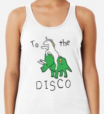To The Disco (Unicorn Riding Triceratops) Women's Tank Top