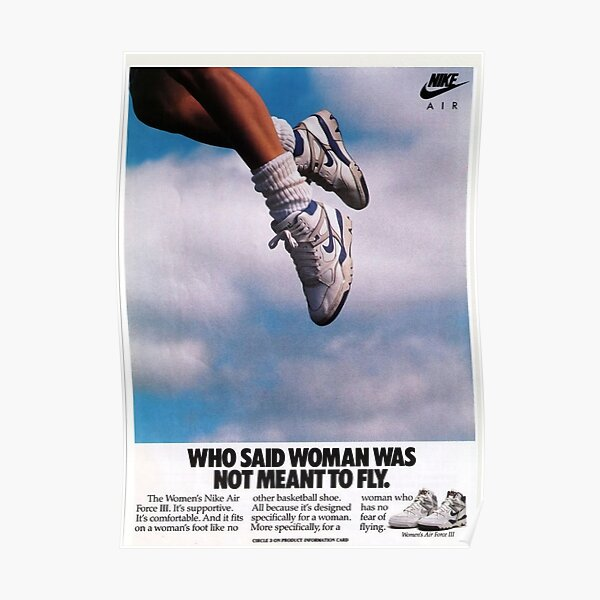 who said woman was not meant to fly Poster