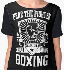 Boxing: Fear the fighter Women's Chiffon Top