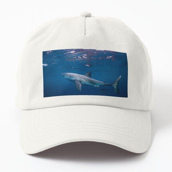 Great White Shark Underwater Dad Hat