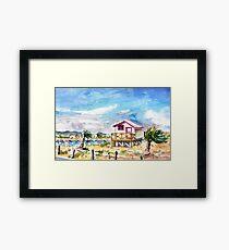 House On Stilts By Gruissan Framed Print