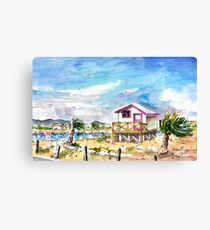 House On Stilts By Gruissan Canvas Print