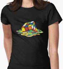 Sheldon's Rubik Womens Fitted T-Shirt