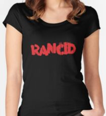 Rancid Logo Women's Fitted Scoop T-Shirt