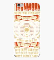 An Ironworker Recognizes His God Given Talents iPhone Case