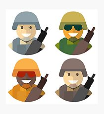 Army Soldiers Photographic Print