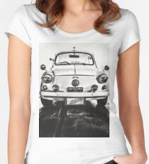 FIAT 600D - 1963 Black and White Women's Fitted Scoop T-Shirt