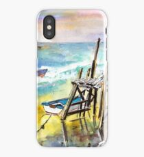 Boardwalks And Boats In Brittany iPhone Case/Skin