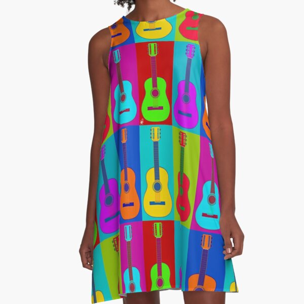 Guitarhol A-Line Dress