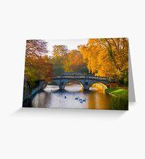 Clare College bridge, Cambridge, UK Greeting Card