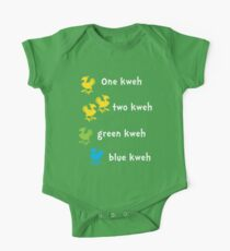 One Kweh Two Kweh Green Kweh Blue Kweh One Piece - Short Sleeve