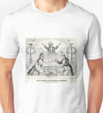 Grand centennial wedding of Uncle Sam and Liberty - 1876 Unisex T-Shirt